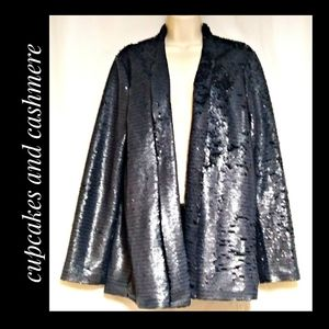 Jackets & Blazers - Cupcakes and Cashmere Sequin Blazer Charcoal NWT's